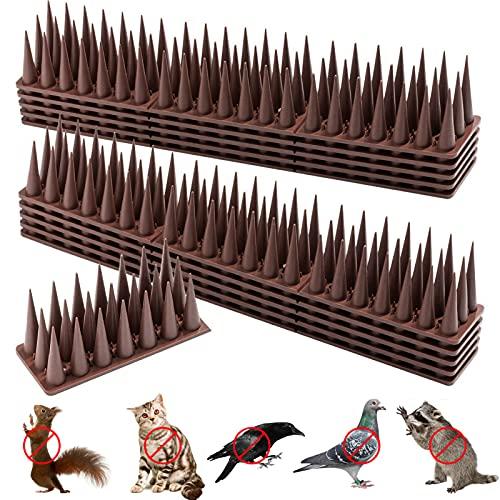 Anti Escalada Gato pájaro,Pinchos Antipalomas Repelente,Plástico Pinchos para Pájaros,Control de Aves,Pájaro Púas De Plástico 12 Piezas,ahuyentar Palomas,Anti Paloma Plástico (marrón)