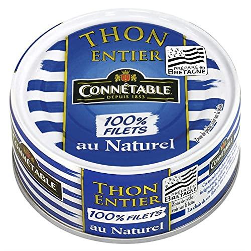 CONNETABLE - Thon Albacore Entier Au Naturel 100% Filets 112G - Lot De 4