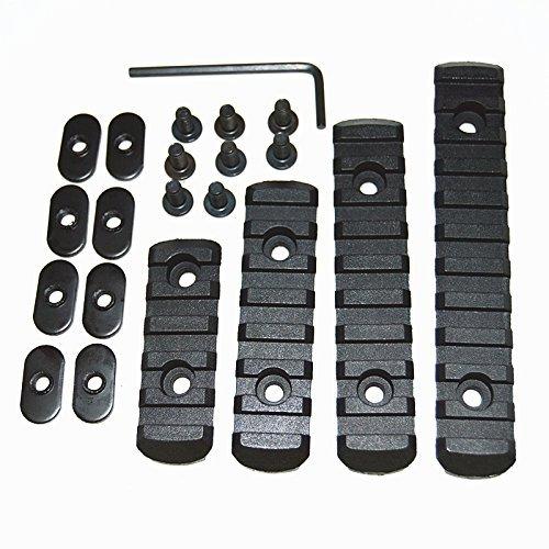 HWZ MOEハンドガード/MASADAエアガン対応 ポリマーレイルレプリカ(L2/L3/L4/L5タイプ4種セット) (ブラック)