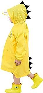 Raincoat for Kids Rain Jacket Age 1-10 Dinosaur Shaped Lightweight Rainwear Rain Slicker for Boy for Girl