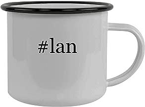 #lan - Stainless Steel Hashtag 12oz Camping Mug, Black