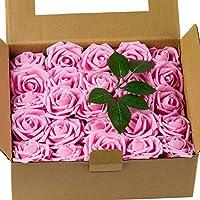 50-Pieces Loveinside Artificial Rose Flowers
