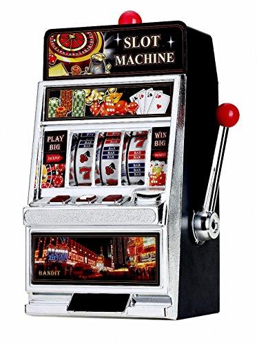 GamePoint SPARDOSE im Original Las Vegas Deluxe Casino Slot Machine Spielgerät Look - Einarmiger Bandit, ca. 38cm - DEKO Keine SPIELFUNKTION