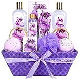 Green Canyon Spa Lavender Spa Geschenkskorb für Frau, Luxuriöse 12-teiliger Weinachten/Geburtstag...