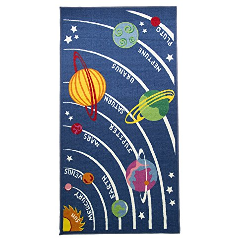 Flair Rugs - Alfombra con diseño de Planetas para niños, 100 x 190 cm