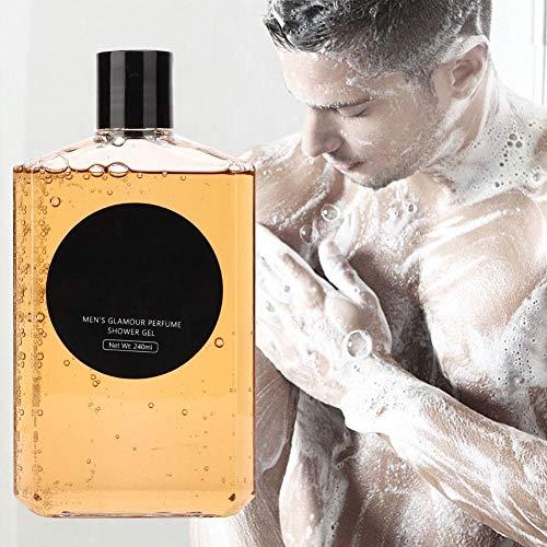 240ml Men's Perfumed Shower Gel, Men Deep Cleansing Long Lasting Fragrance Shower Gel Deep Cleaning Shower Gel Fragrance Body Wash Bath.