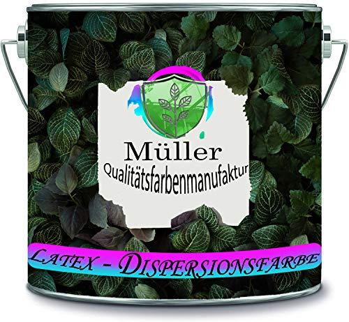 Müller Qualitätsfarbe Latexfarbe Dispersionsfarbe strapazierfähige abwaschbare Wandfarbe in vielen exklusiven Farbtönen (2 l, Creme Weiß)