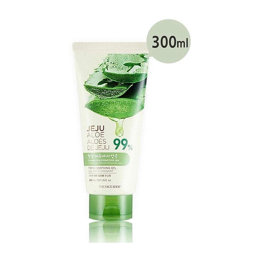 戦争偏心ケイ素ザ?フェイスショップ済州アロエ新鮮なスーディングジェル300ml x 2本セット韓国コスメ、The Face Shop Jeju Aloe Fresh Soothing Gel 300ml x 2ea Set Korean Cosmetics [並行輸入品]