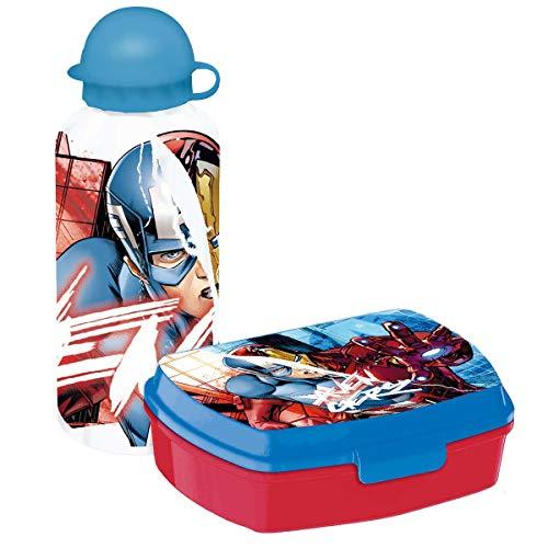 Disney- Avengers Set Gourde avec Boîte Sandwich, MV15200
