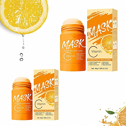 Vitamin C/Charcoal Mask Stick, Charcoal Anti-acne Oil Control & Deep Clean Pores,...