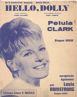 Hello Dolly Sheet Music (Petula Clark Cover - French and English Text)