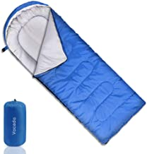 Vocado Sleeping Bag, Double Envelope Sleeping Bag, Indoor & Outdoor Use, Portable, Lightweight and Compact Sleeping Bags for Kids, Adults, Teens, 3-4 Seasons Camping, Hiking, Traveling, Backpacking
