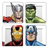 Funko MV03403 Marvel MV03403 Avengers Faces/Helmets Plate Set, Multi-Colour, Set of 4