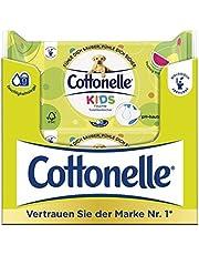 Cottonelle wilgotny papier toaletowy, dla dzieci – owocowy, świeży zapach, biodegradowalny, do ponownego zamknięcia, opakowanie ekonomiczne, 12 x 42 chusteczki