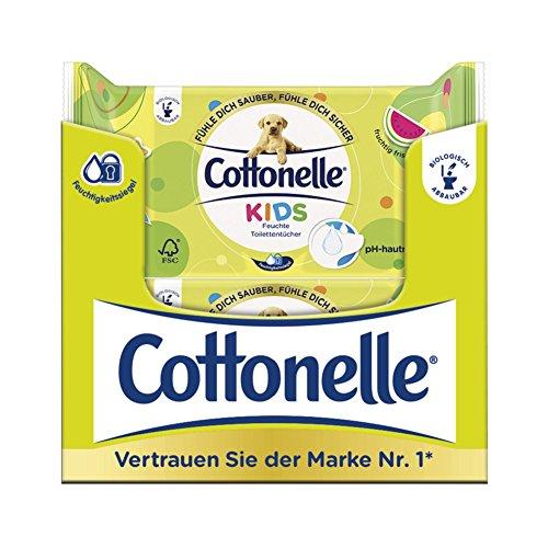 Cottonelle - Ricarica di carta igienica umida per bambini, 12 confezioni da 42 salviette