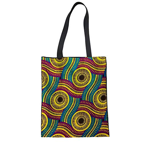 ZXXFR Las Mujeres Africanas Shopping Bag Bolso De Lino De Impresión Diaria De Las Niñas Adolescentes De Moda Señoras Bolso Bolsa De Tela,T0427Z22