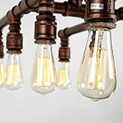 HIMA Industrial Pipe Chandelier Retro Metal Pendant Light for Bar,Club,Restaurant E27 #3