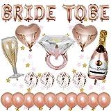 Junggesellinnenabschied Dekoration Luftballons, 1 pcs BRIDE TO BE Brief Ballons, 14 pcs Latex...