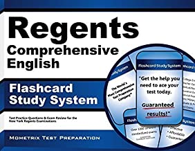 Regents Comprehensive English Exam Flashcard Study System: Regents Test Practice Questions & Review for the New York Regents Examinations by Regents Exam Secrets Test Prep Team (2015) Paperback