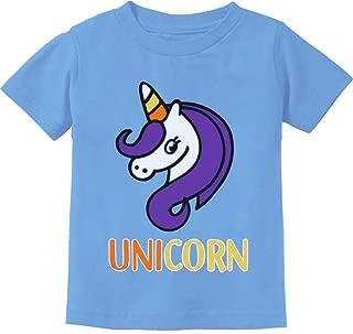 Cute Halloween Candy Corn Unicorn Toddler Kids T-Shirt