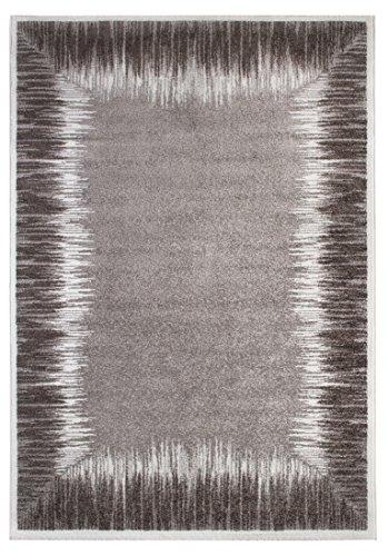 Andiamo Carpet Le Havre, geweven tapijt, zacht, woonkamer, slaapkamer, hal, eetkamer, 100% polypropyleen, vrij van schadelijke stoffen Tapijt. 160x230 cm Borduursel grijs-modder