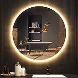 Espejo de Baño con Iluminación LED - Luz Espejo de Pared con Accesorios, Altavoz Bluetooth y Antivaho, Espejo de Luz Regulable