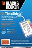 BLACK + DECKER TimeShield Thermal Laminating Pouches, Luggage Tag with Loops, 5 mil - 10 Pack (LAMLUG5-10)