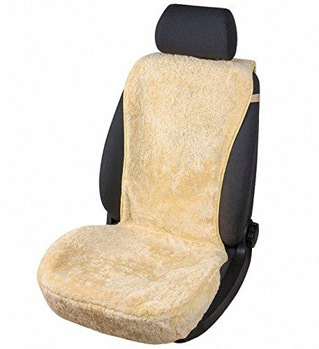 kuschelweiche Universal Lammfell Autositz Auflage beige für alle PKW, Sommer + Winter, 100{c2834488f4c5dafd61e4e2961f06356dfeb280b5051ee3f88c561c5f586583b9} australische Lammfelle