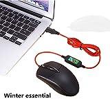USB Beheizte Maus, Beheizte Computer Maus, Hand Wärmer (Schwarz) - 7