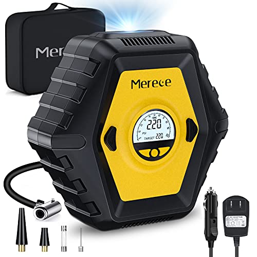 Merece Tire Inflator Air Compressor - Cordless Rechargeable Car Tire...