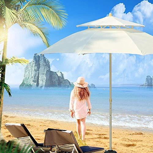 ZGYQGOO Garden Parasol Sun Umbrella Patio Parapluie Jardin Coupe-Vent Parapluie Table d'extérieur avec 8 Nervures Robustes, 3 réglages Hauteur, Facile à Assembler