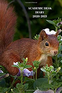 ACADEMIC DESK DIARY 2020-2021: A5 Diary Starts 1 August 2020 Until 31 July 2021. Squirrels. Paperback With Soft Water Repe...