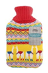 IDEAL CHRISTMAS GIFT: Treat your friend or loved one this Christmas with this trendy knitted hot water bottle. LUXURIOUS KNITTED COVER: The soft-touch covers provide luxurious comfort and feature cute designs PERFECT FOR WINTER: This CityComfort knit...