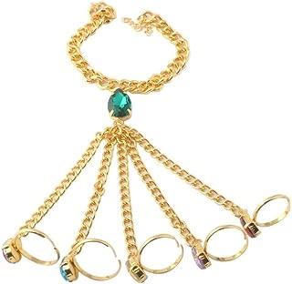 Cool-Thanos Infinity Bracelet - Adjustable Women/Girls Gauntlet Finger Hand Bracelet - Cosplay Charm Ring Bracelets for Party