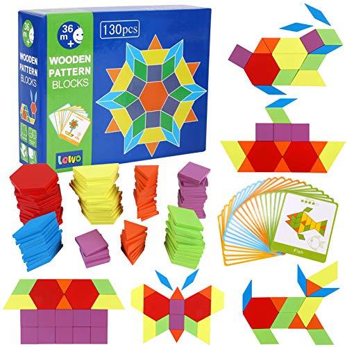 Lewo 130 Teilig Holzpuzzles Geometrische Formen...