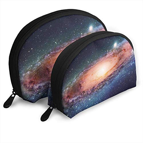 XCNGG Beautigul Galaxy Universe Aufbewahrungstasche Geldbörse Kosmetische Reise Aufbewahrungstasche Eine große und eine kleine 2-teilige Schreibwaren Bleistift Multifunktions-Tasche Kinder Brieftasche