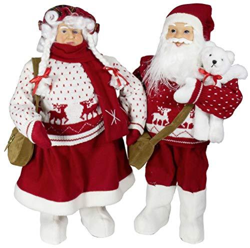 Christmas Paradise Weihnachtsmann Weihnachtsfrau Größe ca.60cm Mr.Santa Mrs.Santa (Mr.& Mrs.Santa)