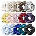 LilySilk Silk Charmeuse Scrunchy -Regular -Scrunchies For Hair - Silk Scrunchies For Women Soft Hair Care