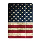 """SaharaCase Folio Series Case for iPad Pro 11"""" (2nd Gen 2020) [Shockproof Bumper] Rugged Protection Antislip Grip Leather Kickstand - Red/White/Blue"""
