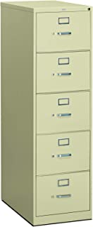 HON 310 Series Vertical File Cabinet Legal Width, 5 Drawers, Putty (H315C)