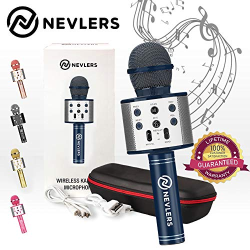 Find Bargain Nevlers Karaoke Microphone with Wireless Bluetooth Speaker and Recording Options, Easy ...