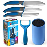 Kids Knife Set For Cooking – 5 Piece Kids Cook Set in blue – Kids Cooking Supplies, 4.5' Kids...
