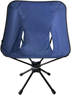 KJRJZDY Slacker Chair Plegable Taburete Giratorio para Acampar al Aire Libre Caminar Caza Senderismo Pesca Viajes (Color :...