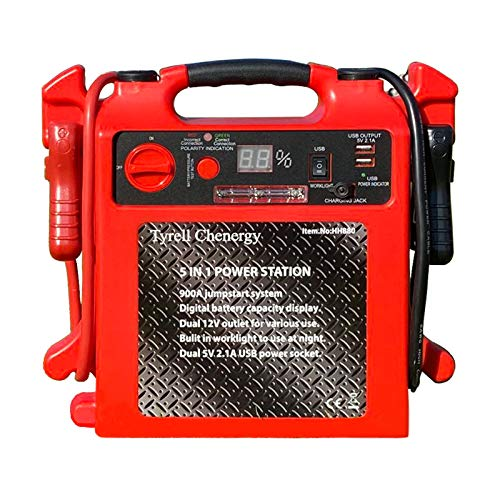 For Sale! Tyrell Chenergy 900 Peak Amp Car Jump Starter Power Station with Two USB Ports Working Lig...