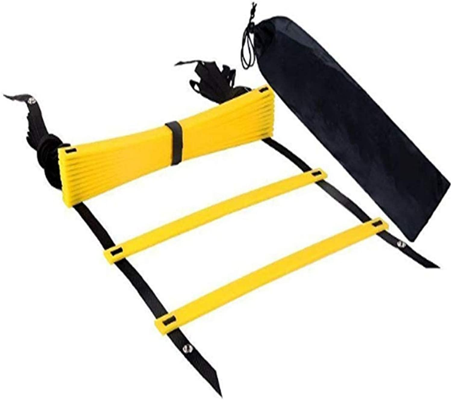 Agility Ladder Fitness Equipment Coordination Ladder Training Set with Carry Case Reinforcement System Fast Training Equipment Faster Footwork and Better Motor Skills