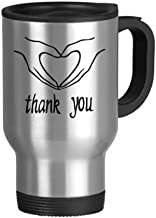 Black Heart Shaped Personalized Gesture Stainless Steel Travel Mug Travel Mugs With Handles 13oz Gift