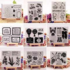 Dchaochao Bear Rubber Perfectly Clear Stamp,Photo Embossing Album Decorative/Card Making,Transparent Silicone Stamp Cling Seal DIY Craft Art #5