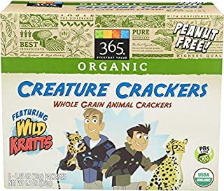 365 Everyday Value Featuring Wild Kratts, Organic Creature Crackers, Whole Grain Animal Cookies,  6 ct
