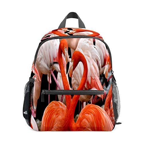 Kids Backpack Preschool Kids School Bag Boy Girl Lightweight Shoulder Book Bag for 1-6 Years Old Perfect Back Pack for Toddler to Kindergarten Flamingo Lovers Tropical