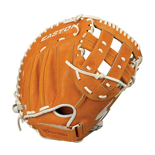 "Easton Professional Fastpitch Collection Baseball Glove, Right Hand Throw, 34"", Midnight Brown, Catcher Mitt"